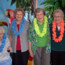 hawaiian themed birthday party, southview senior living