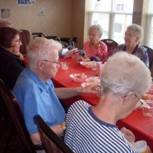 State Fair Food Days-Southview Senior Living-group of tenants enjoying food