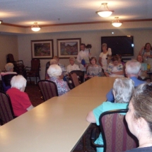 Woodbury Lutheran Church Band-Shouthview Senior Living-tenants gathered for the band