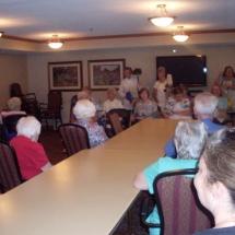 Woodbury Lutheran Church Band-Shouthview Senior Living-tenants gathered for the band