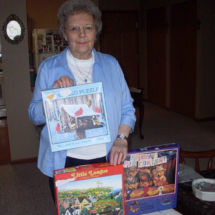 Mary Jane Austing Puzzles at Southview Senior Living