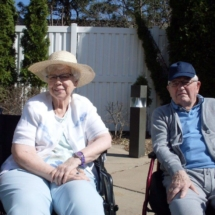 Memory Care enjoying the weather at Southview Senior Living