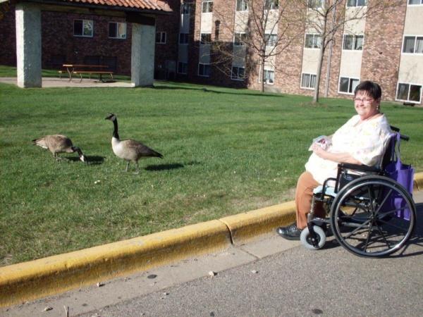 Marie Paulson Feeding Geese